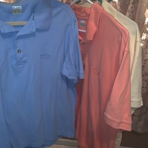 3 men's Columbia shirts